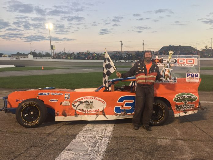 Jeff Swinford scored his fourth win of the season in Hart's Auto Figure-8 action Saturday at Anderson Speedway after a crash in the crossover eliminated ...