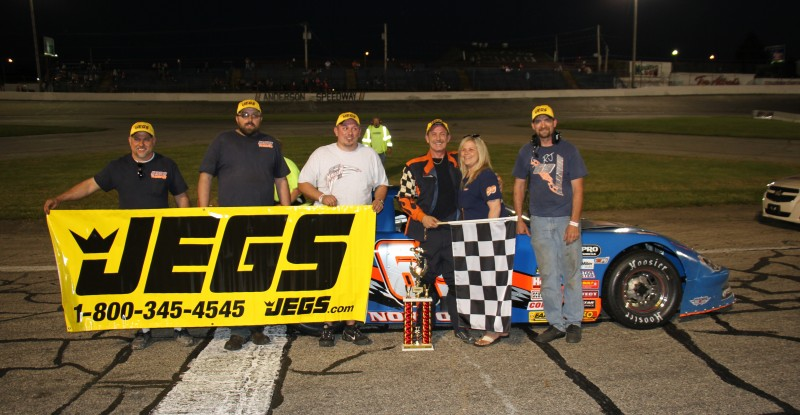 ... Sportsman Late Model race once again eluded Jeff Marcum when a flat tire with 10 laps remaining gave the victory to R.J. Norton at Anderson Speedway.