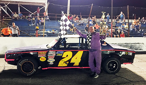 Markleville driver Randy Hoppes was the first to admit that his win in the Thunder Car feature at Anderson Speedway was a lucky victory on Saturday.