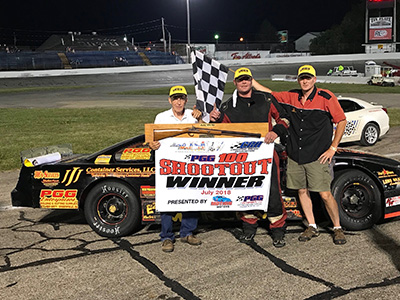Morristown's Jeff Marcum remained perfect in late model racing at Anderson Speedway this season with a win in the PGG 100 on Saturday.